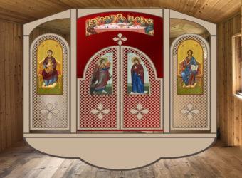 Проект иконостаса мобильного храма